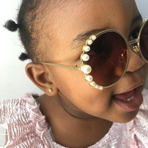 Children's Gold or Black Pearl Sunglasses